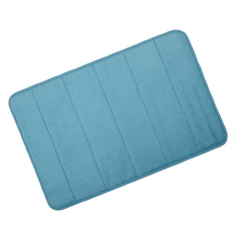 Memory Foam Rugs For Bathroom Microfibre Memory Foam Bathroom Shower Bath Mat With Non Slip Back 22 Colours Ebay
