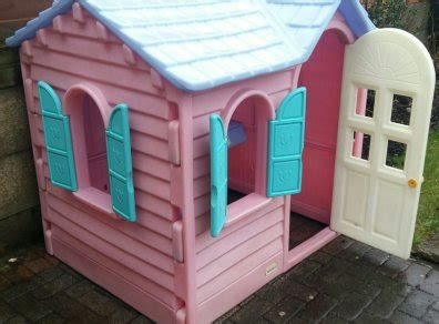 little tikes pink country cottage playhouse for sale in