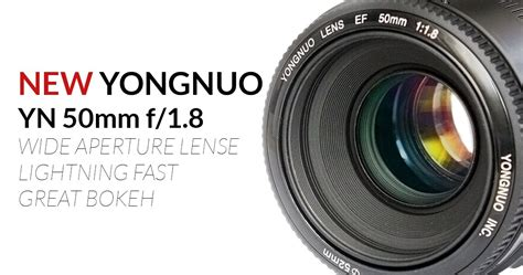 Yongnuo Lens 50mm F1 8 For Canon yongnuo yn 50mm f1 8 lens for canon