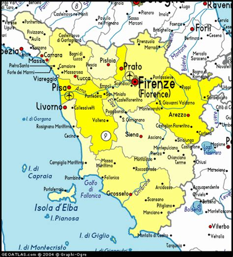 tuscany italy map travel to tuscany italy inside tourism information