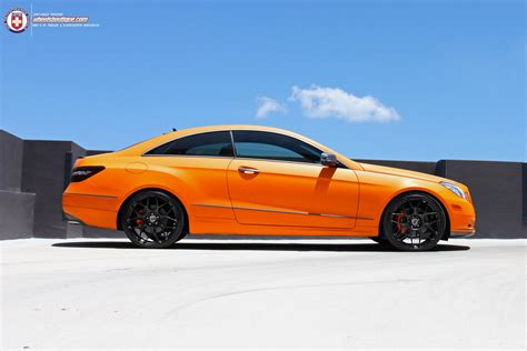 orange mercedes sunkist orange mercedes e coupe on hre wheels