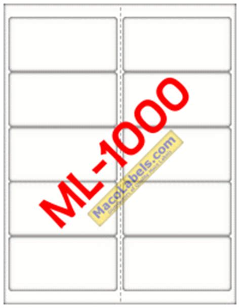 maco label templates maco ml 1000 ml 1000 ml1000 5163 laser inkjet label