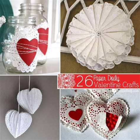 Paper Valentines Crafts - 26 paper doily crafts the scrap shoppe