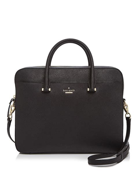 kate spade new york saffiano 13 quot computer in black lyst