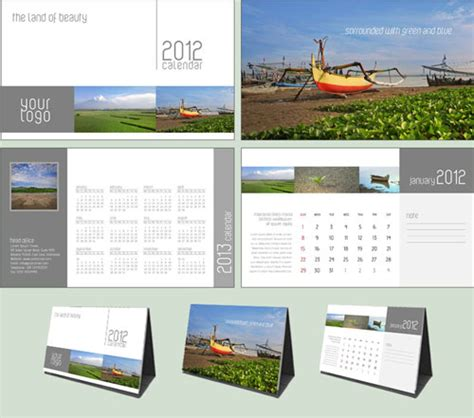 free 2012 calendar design templates designfreebies