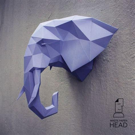 Papercraft Elephant - 17 mejores ideas sobre cabeza de elefante en