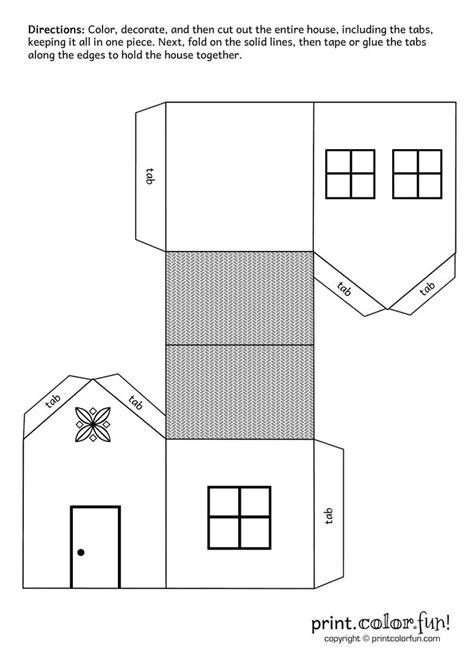 printable paper house template 741 best printable houses images on paper