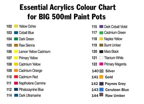 royal langnickel acrylic paint xl tub 500ml artist hobby craft colours