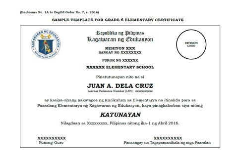 Bi Level Home Plans by Sample Template Grade 6 10 12 Certificate Deped Lp S