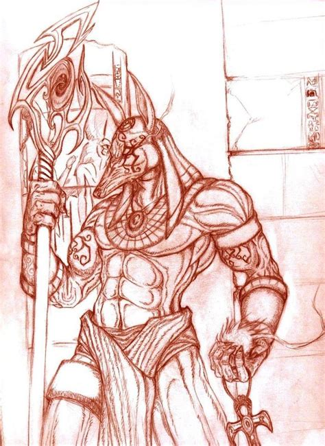 anubis warrior drawing google search interesting