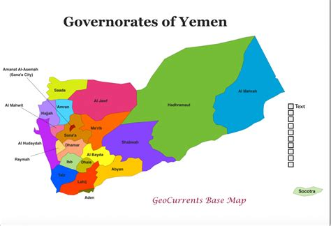 map of yemen geocurrents the geography of current events