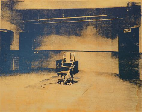 Andy Warhol Electric Chair listen to silence humble all humble