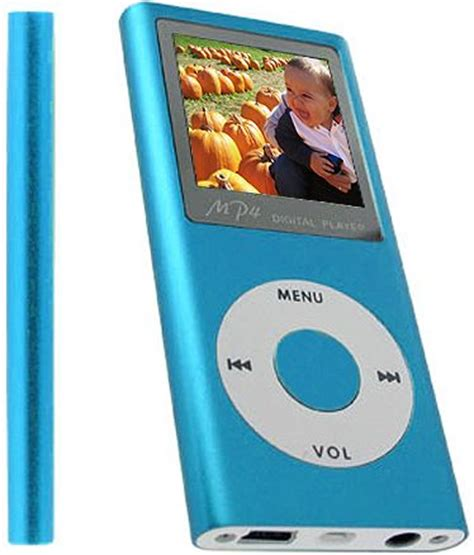Mp4 With 2gb Memory by Premier 2gbmp4b Digital Mp3 Mp4 Player In Teal Blue 2gb