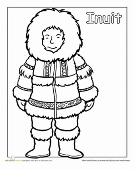 multicultural coloring pages preschool multicultural coloring inuit worksheet education com