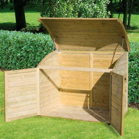 coffre bois jardin coffre bois 900 l