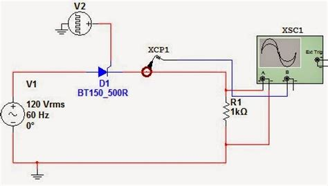rectifier circuit using thyristor 1 phase half wave rectifier circuit using scr with resistive load