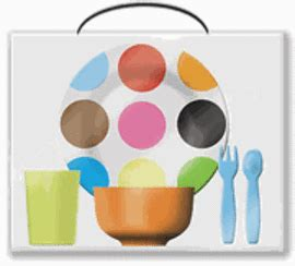 H Set Bibie Polka Kid stylish dinnerware for the kiddos shakadoo