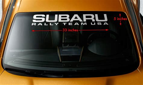 subaru rally decal product subaru rally team usa wrx sti wrc windshield