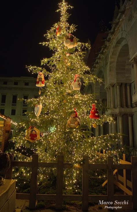 christmas in st mark s square venice italy
