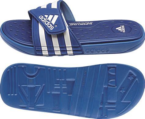 adidas comfort sandals mens adidas adissage blue velcro comfort footbed flip flop