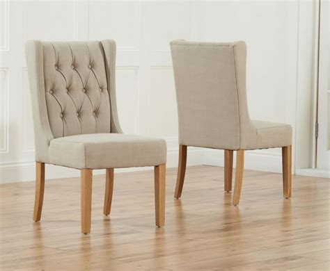 Upholstered Linen Dining Chairs Beige Linen Upholstered Dining Chairs