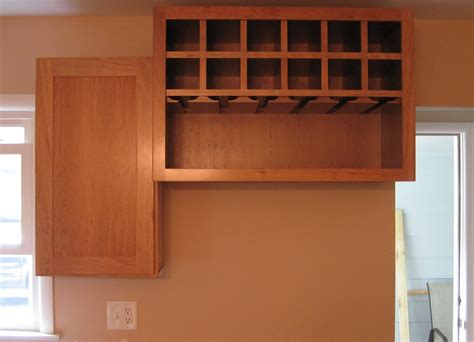 Over The Refrigerator Cabinet | custom over the fridge wine cabinet mccallumcabinetry