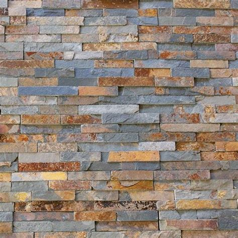 split face multi colour rusty slate natural stone cladding