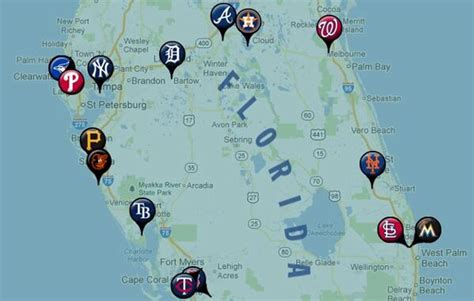 grapefruit league map mlb on quot here s 1 interesting fact about each 13 grapefruit league cities with