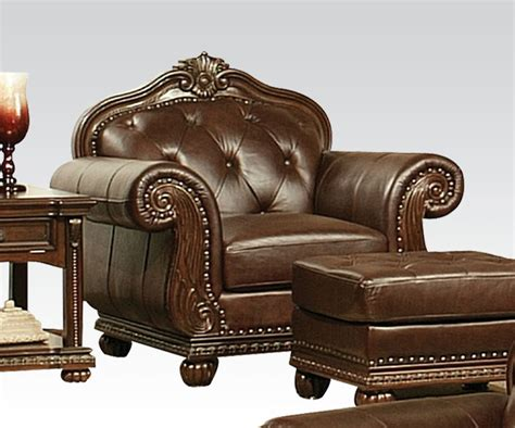 Acme Furniture Anondale Top Grain Leather Sofa Set Top Grain Leather Sofa Set