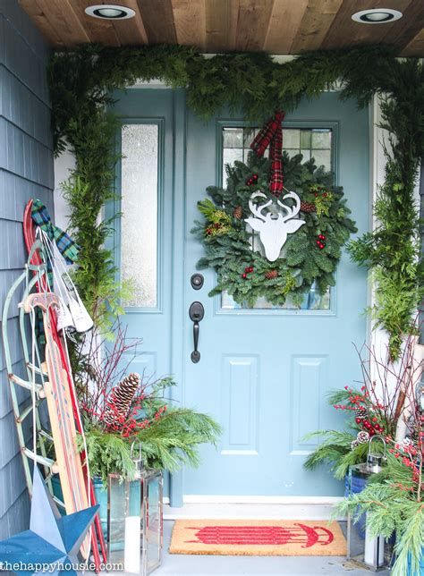 Front Porch Christmas Decor thrifty amp classic christmas front porch decor the happy