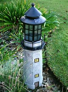 large solar garden lights large lighthouse fiberglass solar light garden decor yard