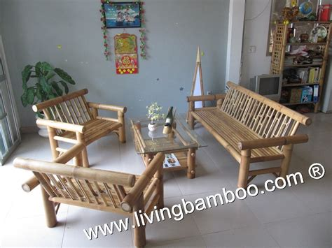 Bamboo Living Room Set Bamboo Living Room Tiago Living Set