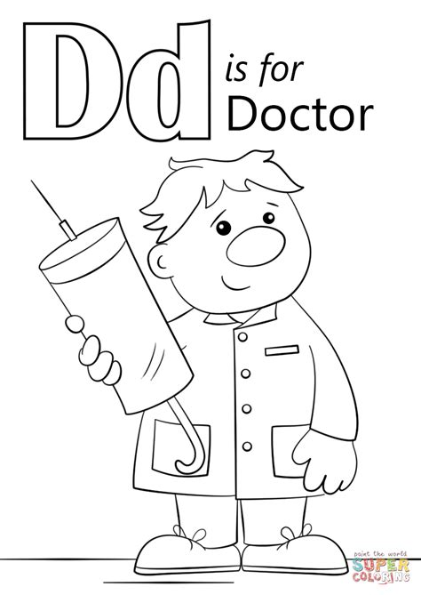 d coloring pages for kindergarten printable coloring pages letter d printable alphabet