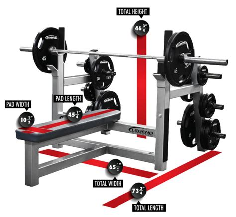 olympic bench dimensions olympic flat bench with plate storage legend fitness