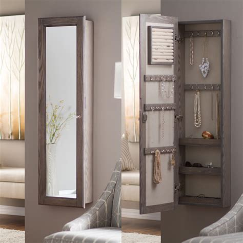 wall mirror jewelry cabinet wall mounted mirror jewellery cabinet bathroom mirrors