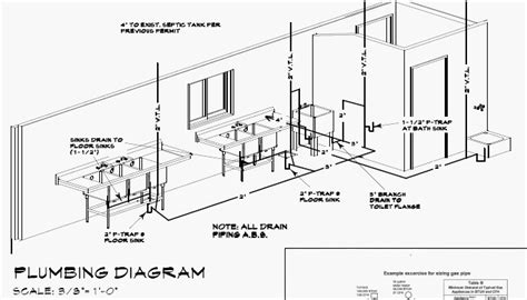 typical residential plumbing riser diagram bathroom