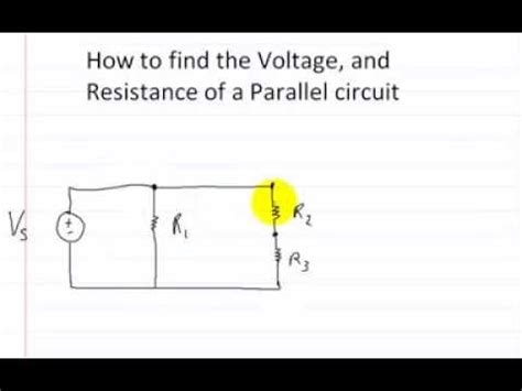 how to find voltage across a resistor in a series circuit how to find the voltage and resistance of a parallel circuit