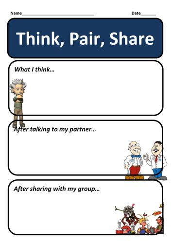 think pair template pdf assessment for learning think pair by robbo147