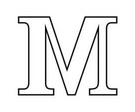 Block M Outline by Letter M In Block Letter Coloring Page Letter M In Block Letter Coloring Page Color Nimbus