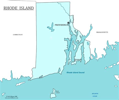 rhode island on map rhode island state map map of rhode island and