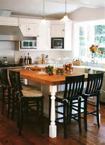 table as kitchen island 1000 ideas about kitchen island table on