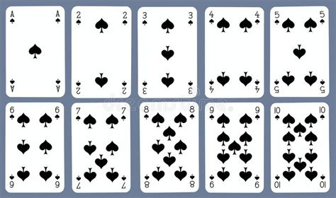 deck of cards template c cards spades stock photos image 16905813