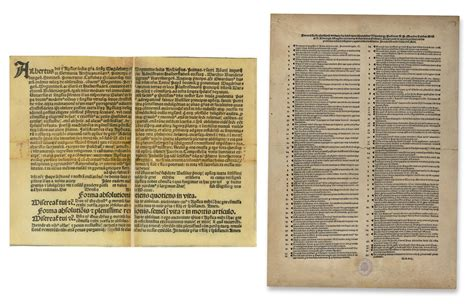 Ninety Five indulgences and the ninety five theses word and image
