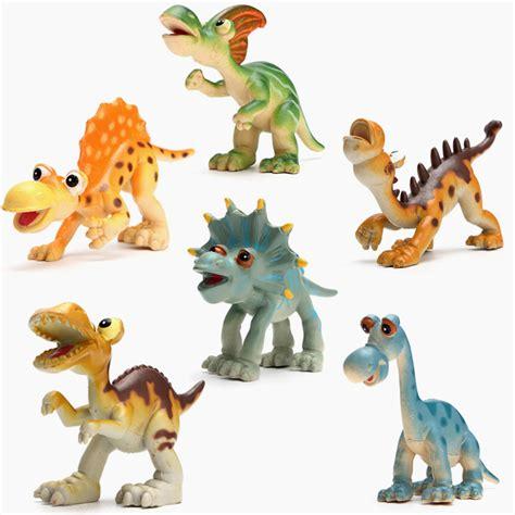 Figure Dinosaurus Set new 6pcs plastic animal dinosaur figures