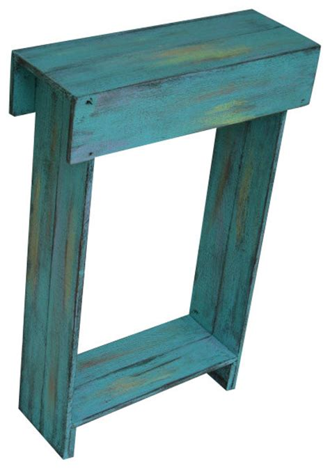 wall accent tables aqua skinny wall table farmhouse side tables and end tables by rustic exquisite designs
