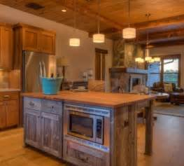 Wooden Kitchen Ideas by 15 Reclaimed Wood Kitchen Island Ideas Rilane