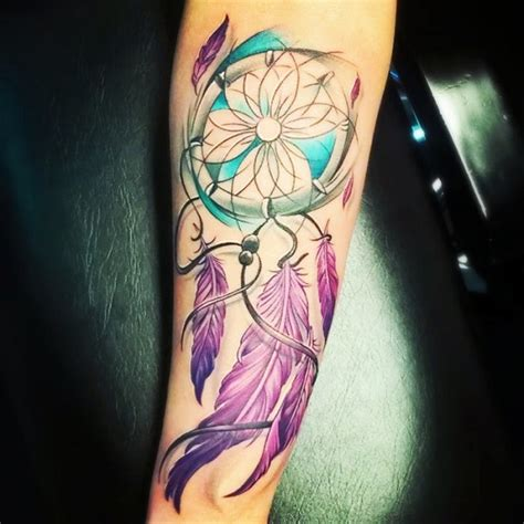 dream catcher tattoo with color 50 dreamcatcher tattoo designs nenuno creative
