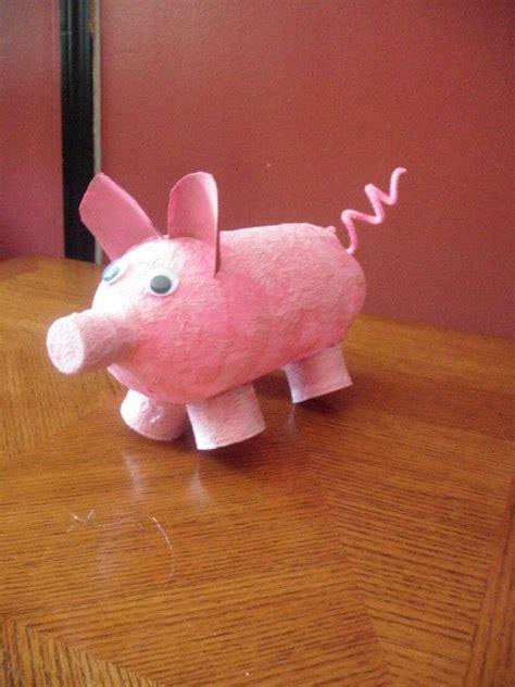 recycled piggy bank  money bank papier mache  cut