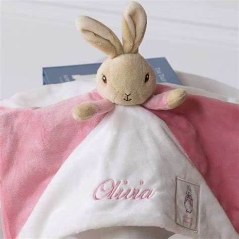 bunny comfort blanket personalised flopsy bunny baby comfort blanket by that s