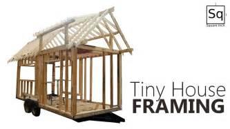 how to build a frame house building a tiny house 2 framing youtube